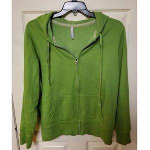 XXL Old Navy Green Zip Up Hoodie